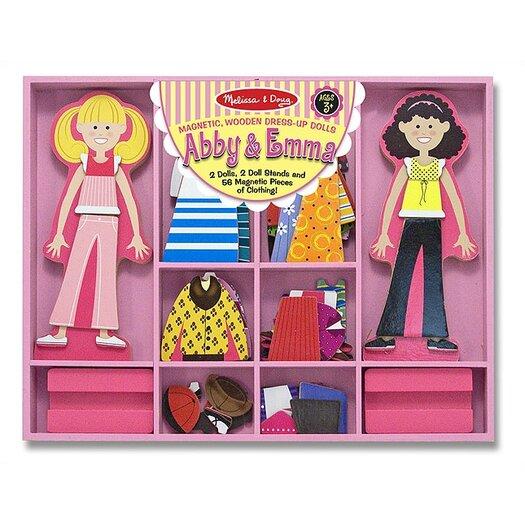 Melissa and Doug Abby & Emma Magnetic Dress-Up Set