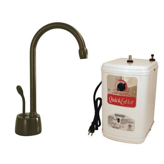 Westbrass Velosah One Handle Single Hole Instant Hot Water Dispenser Faucet