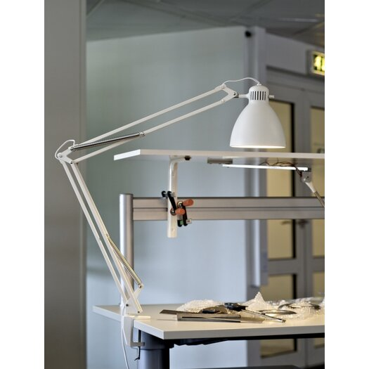 "Luxo L-1 Edge Clamp Architect 40"" H Table Lamp with Bowl Shade"