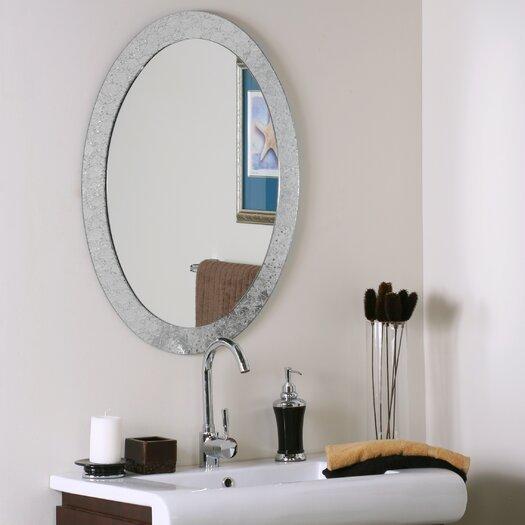 Decor Wonderland Frameless Crystal Wall Mirror