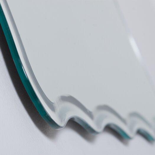 Decor Wonderland Frameless Ridge Wall Mirror