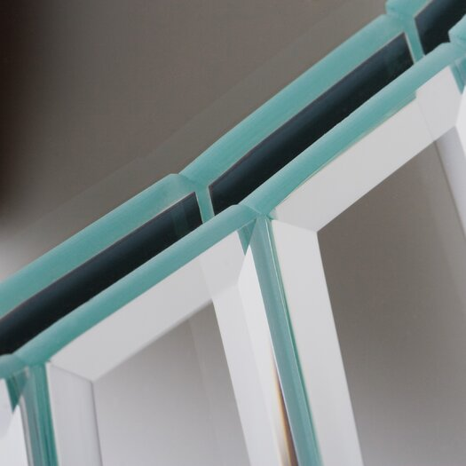 Decor Wonderland Fortune Modern Frameless Beveled Wall Mirror