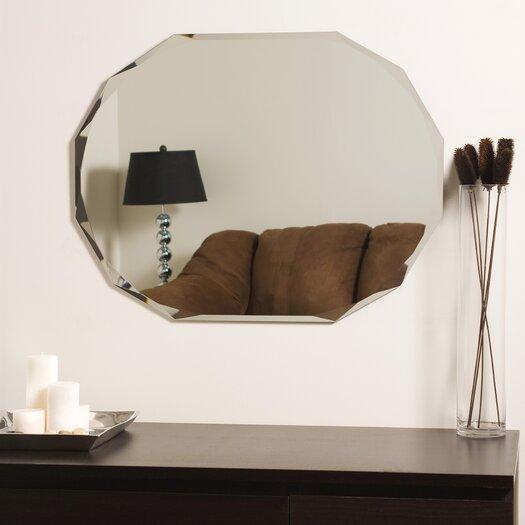 Decor Wonderland Frameless Diamond Wall Mirror