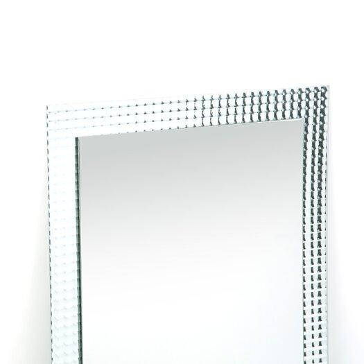 "Decor Wonderland 31.5"" H x 23.6"" Frameless Disco Wall Mirror"
