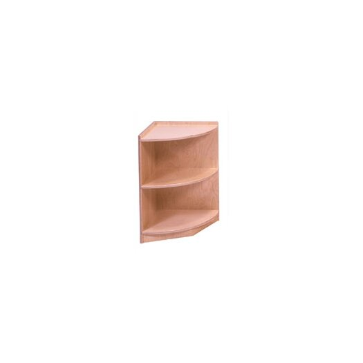 Steffy Wood Products Curved End Storage Unit