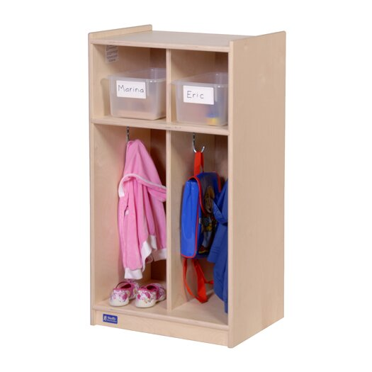 Steffy Wood Products 2-Section Toddler Locker