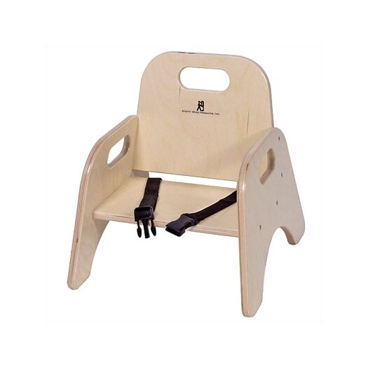 """Steffy Wood Products 7"""" Wood Classroom Toddler Stackable Chair with Strap"""