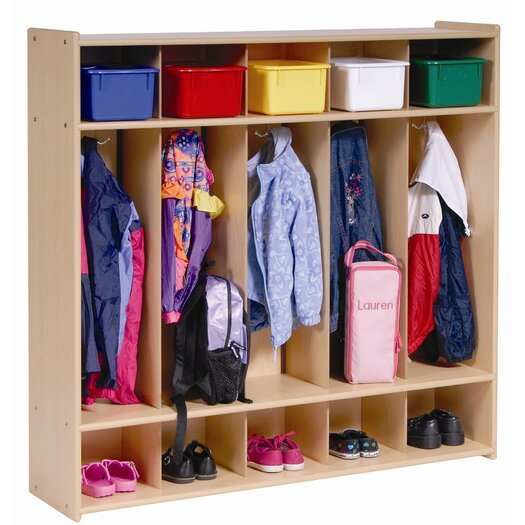 Steffy Wood Products 5-Section Locker