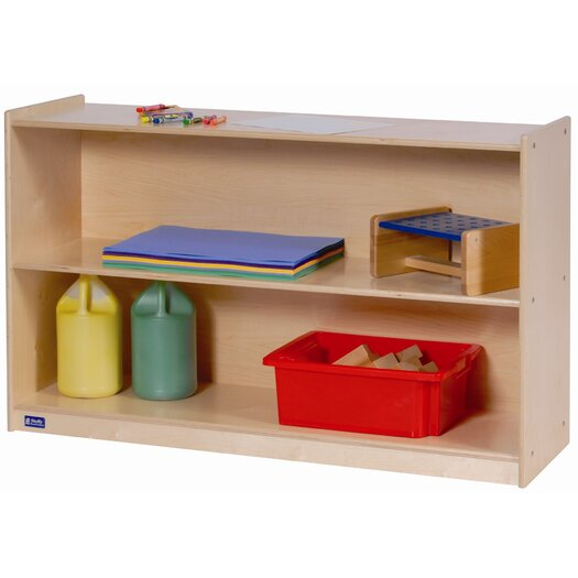 Steffy Wood Products Wide High Two Shelf Mobile Storage