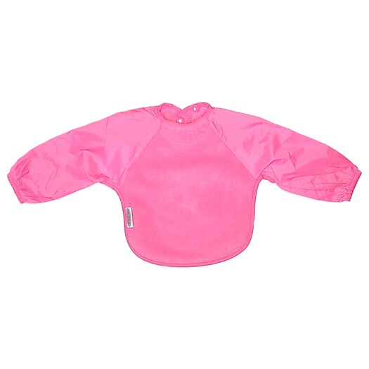 Silly Billyz Long Sleeve Fleece Bib in Fuchsia