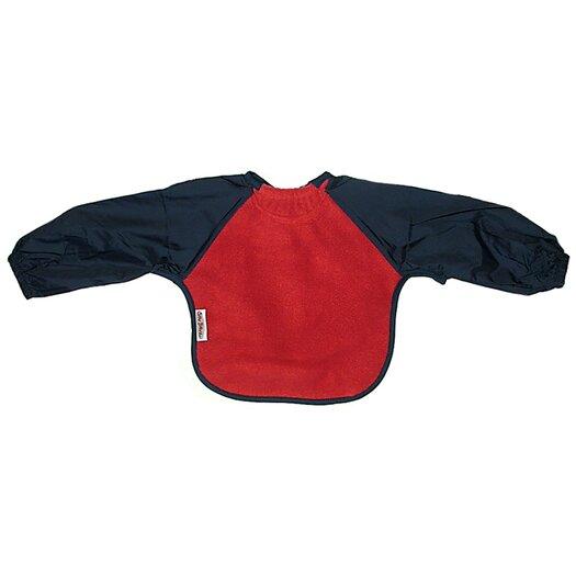 Silly Billyz Long Sleeve Fleece Bib in Red