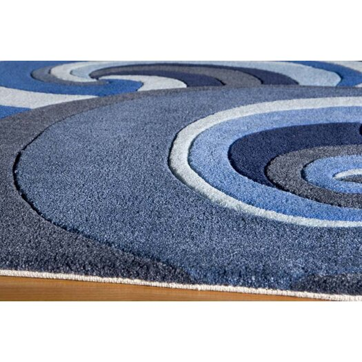 Momeni Lil' Mo Lil Mo Hipster Surf Blue Area Rug