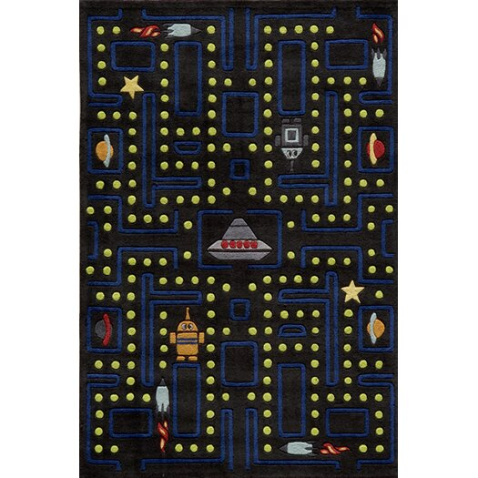 Momeni Lil' Mo Lil Mo Whimsy Space Game Kids Area Rug