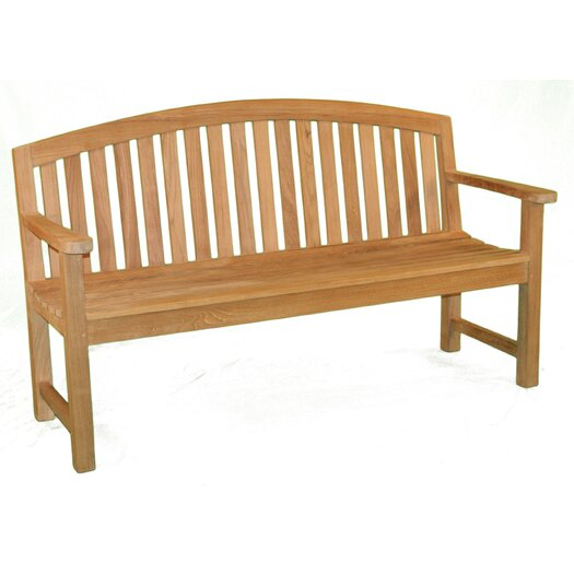 Jewels of Java Fanback Teak Garden Bench