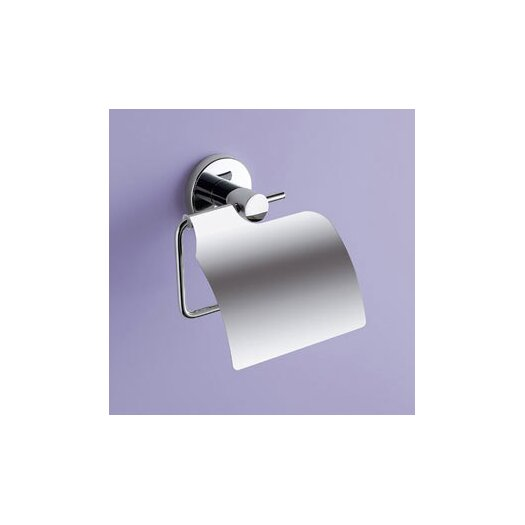 Gedy by Nameeks Felce Toilet Paper Dispenser with Cover in Chrome