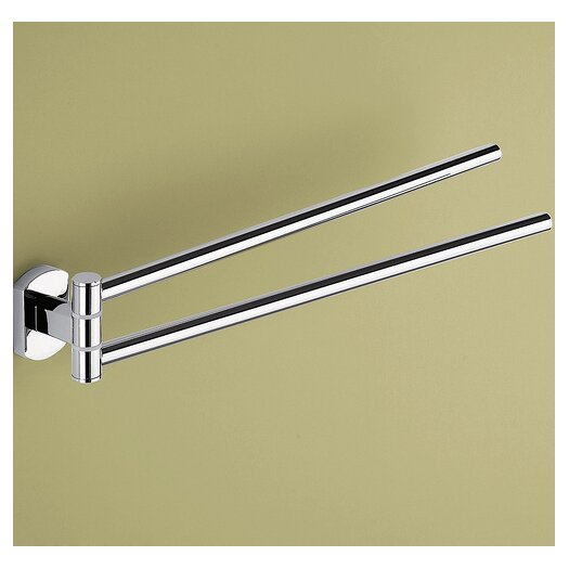 "Gedy by Nameeks Edera 14.1"" Wall Mounted Jointed Double Towel Bar"