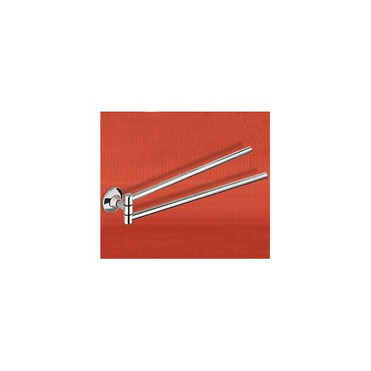 """Gedy by Nameeks Ascot 16.9"""" Wall Mounted Double Towel Bar"""