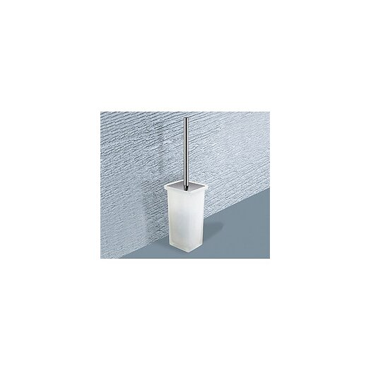 Gedy by Nameeks Minnesota Free Standing Frosted Glass Toilet Brush Holder