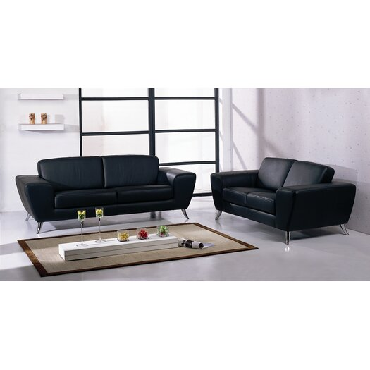 Beverly Hills Furniture Julie Leather Loveseat