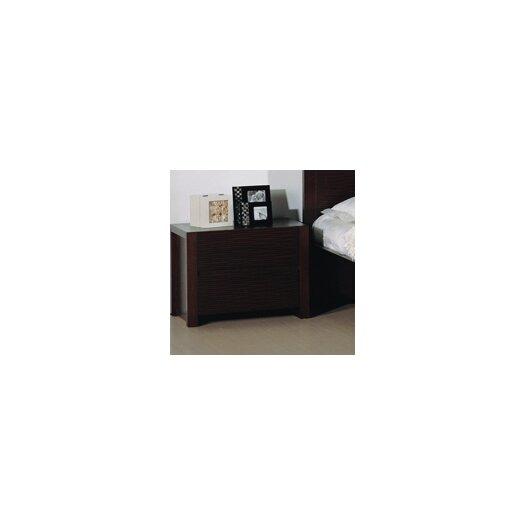 Beverly Hills Furniture Etch 2 Drawer Nightstand
