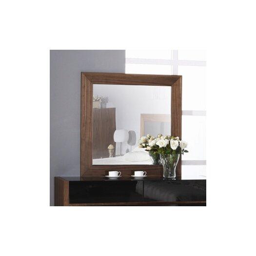 Beverly Hills Furniture Stark Mirror in Walnut