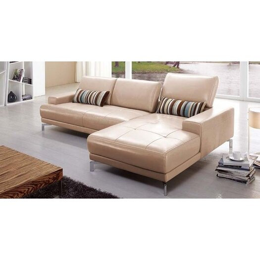 Beverly Hills Furniture Urban Leather Right- Chaise Sectional