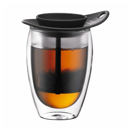 Bodum Yo-Yo Strainer and Pavina Double Wall Glass Set