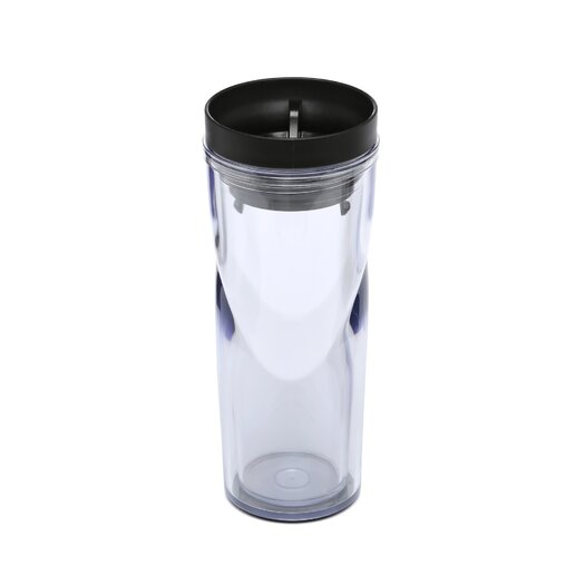 Bodum Bistro Double-Walled Plastic Travel Mug with Radial Sip-Anywhere Lid