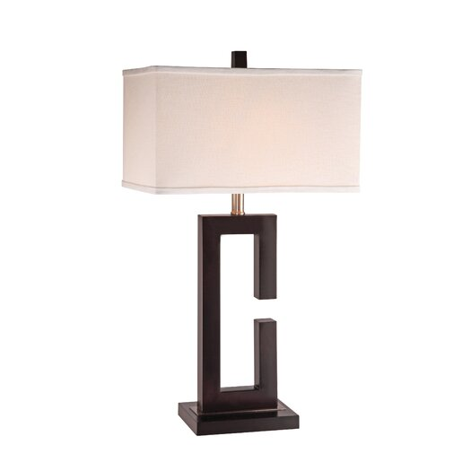 "Anthony California Metal 28"" H Table Lamp with Rectangular Shade"