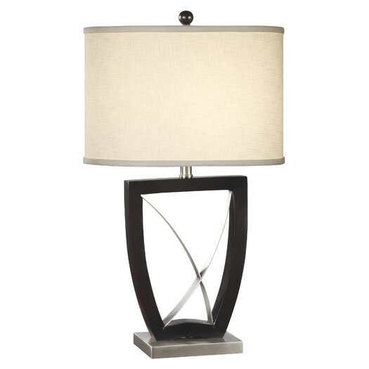 """Anthony California Metal 28.5"""" H Table Lamp with Drum Shade"""