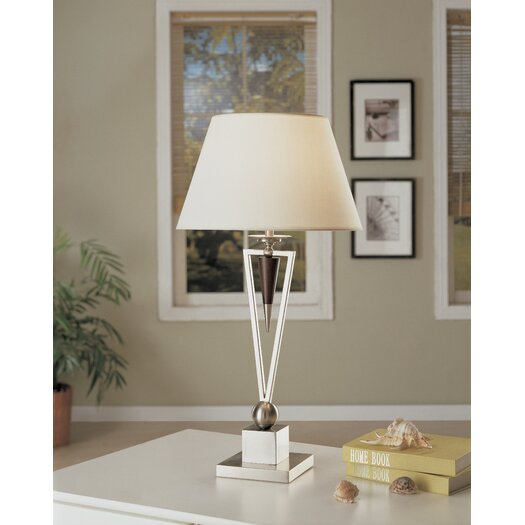 "Anthony California Metal 29"" H Table Lamp with Empire Shade"