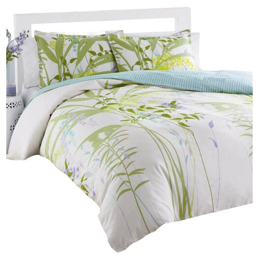 City Scene Mixed Floral Mini Duvet Cover Set