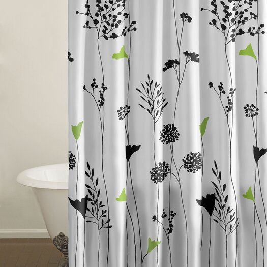 City Scene Asian Lily Cotton Shower Curtain