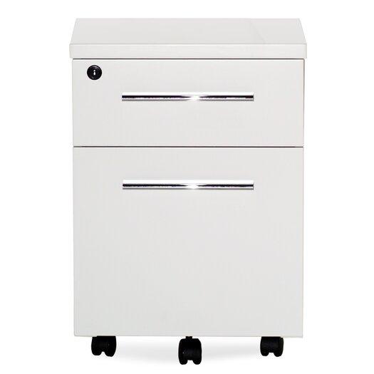 Jesper Office 500 Series Mobile 2-Drawer File Cabinet with Lock & Castors
