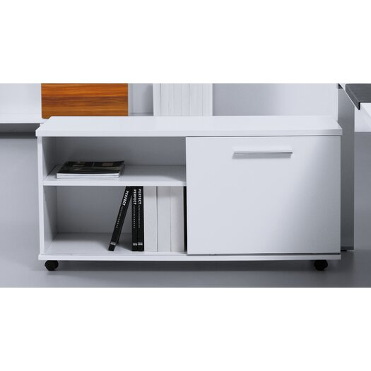 Jesper Office 500 Series Mobile File Cabinet with Sliding Door