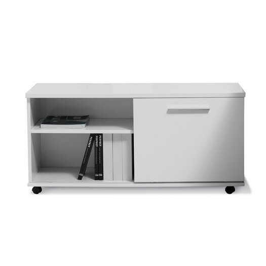 Jesper Office 500 Series Mobile File Cabinet with Sliding Door