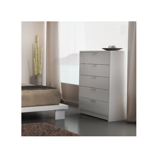 Stellar Home Furniture Cosmopolis 5 Drawer Chest