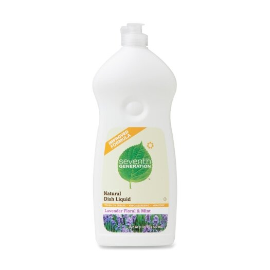 Seventh Generation Dishwashing Liquid, Natural, 25 oz., Lav/Mint