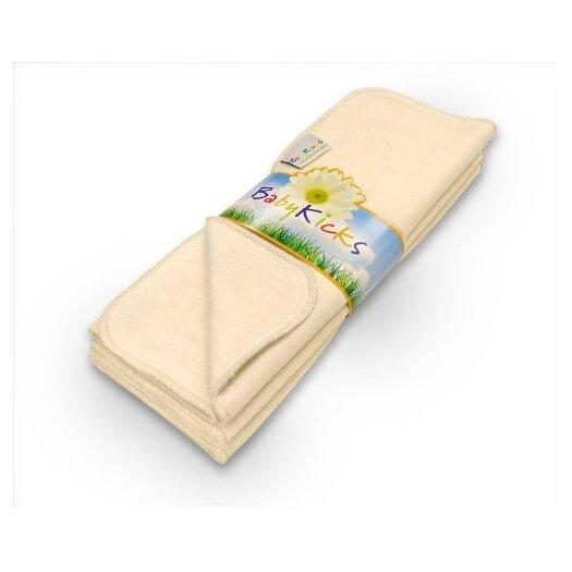 Babykicks Ivory Premium Burp Cloth (Pack of 3)