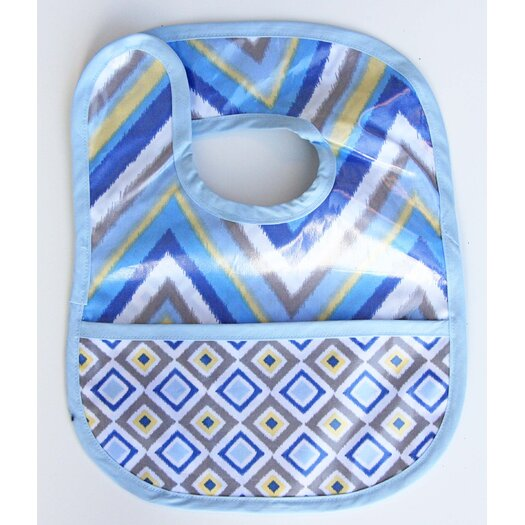 Caden Lane Ikat Chevron Coated Bib