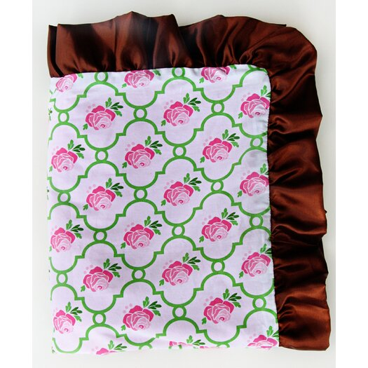 Caden Lane Boutique Rose Lattice Ruffle Blanket