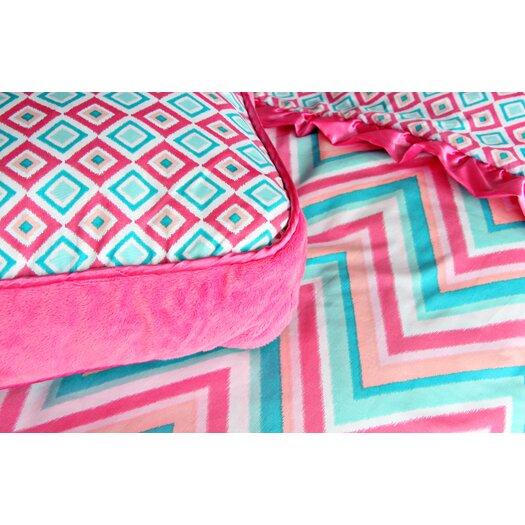 Caden Lane Ikat Girl Square Pillow