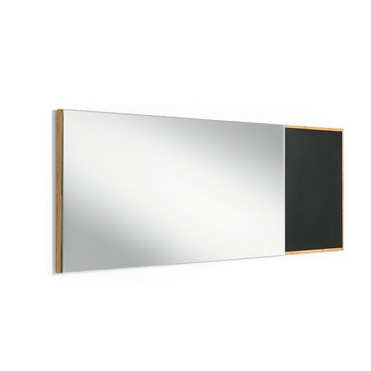 WS Bath Collections Luni Mirror with Bamboo Frame and Blackboard Magnetic Surface