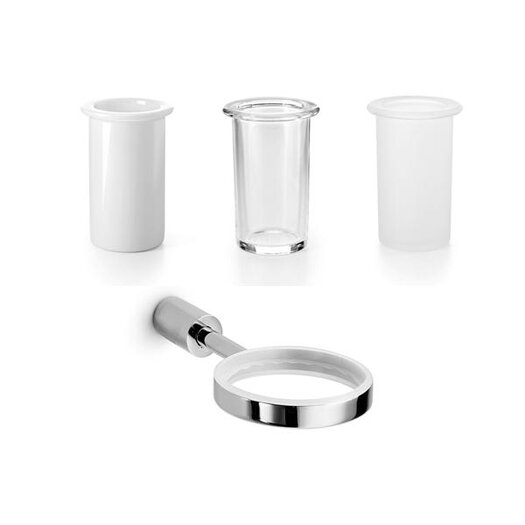 WS Bath Collections Picola Single Holder with Toothbrush Holder