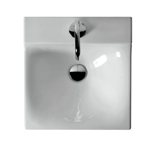 WS Bath Collections Buddy Ceramic Wall Mounted Bathroom Sink