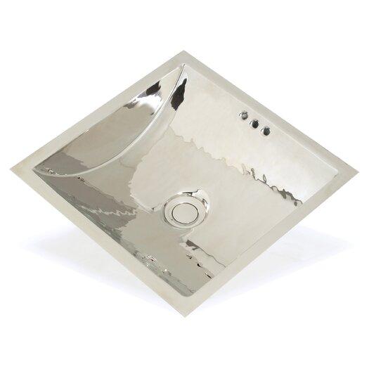 WS Bath Collections Metal Square Bathroom Sink