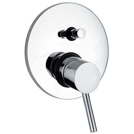 """WS Bath Collections Linea 6.1"""" Diveter Faucet Shower Faucet Trim Only"""