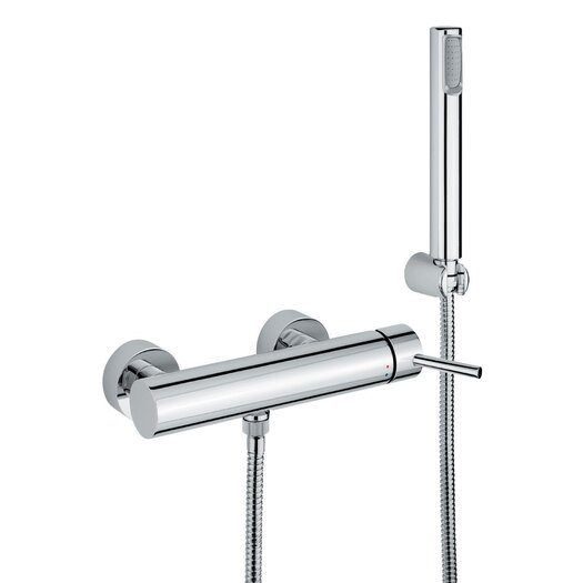 WS Bath Collections Linea Wall Mount Single Lever Volume Control Hand Shower Set