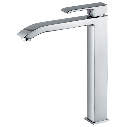 WS Bath Collections Linea Single Hole Bathroom Faucet with Single Lever Handle