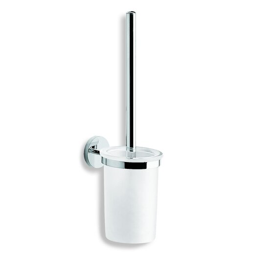"WS Bath Collections Duemilla 3.5"" x 3.5"" Toilet Brush Holder in Polished Chrome"